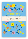 Thank You Blue Flowers Notecards