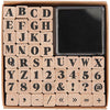 Serif Alphabet Stamp Set