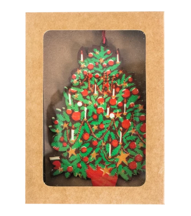 Christmas Tree Wooden Decoration