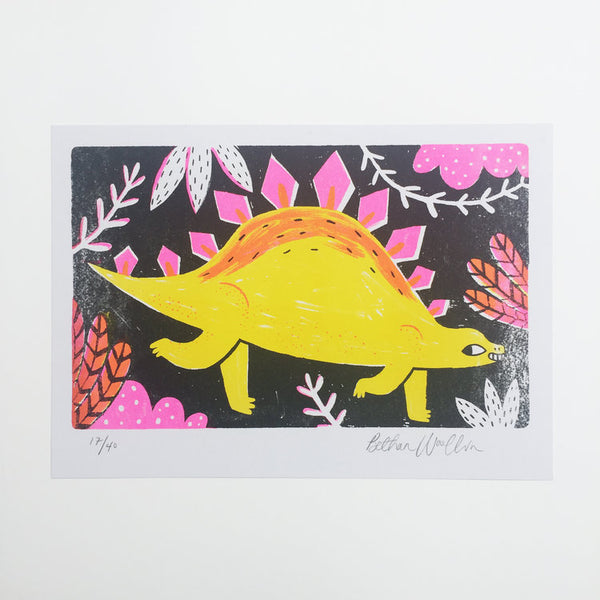 Yellow Stegosaurus