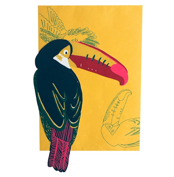 Toucan Screenprinted Card