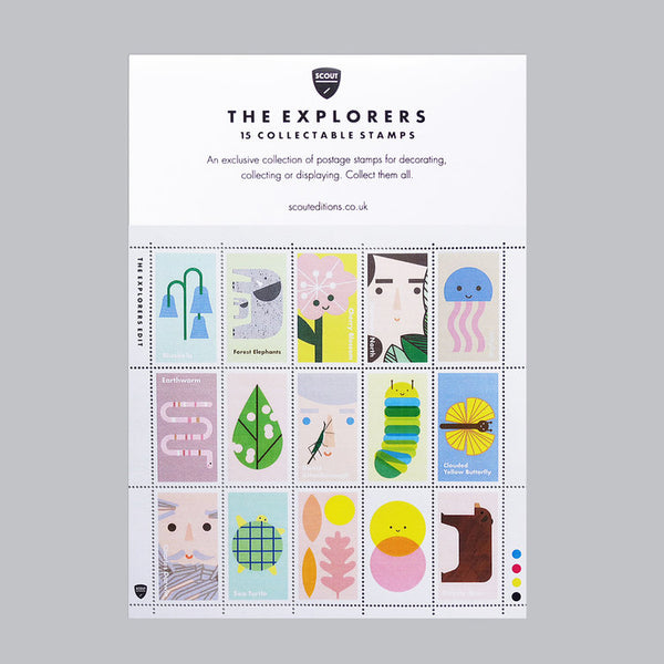 The Explorers Collectable Stamp Set