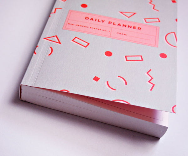 Mini Memphis Shapes No.1 Daily Planner Book
