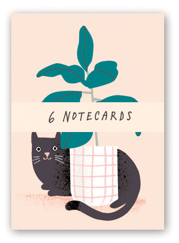 Cat and Plant Notecards