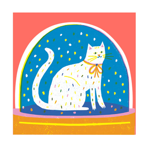 Snowglobe Cat