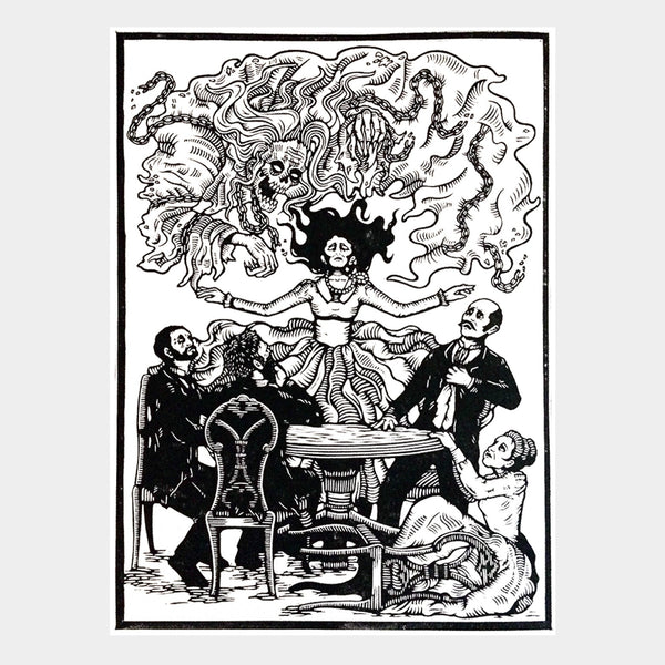 The Séance Lino Print