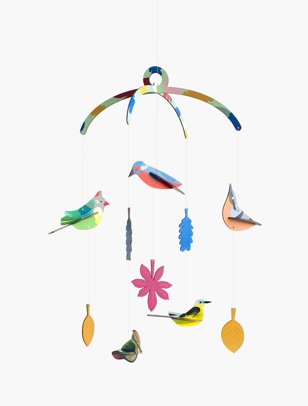 Garden Birds Mobile Decoration