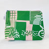 Flat Base Pouch in Shapes Print