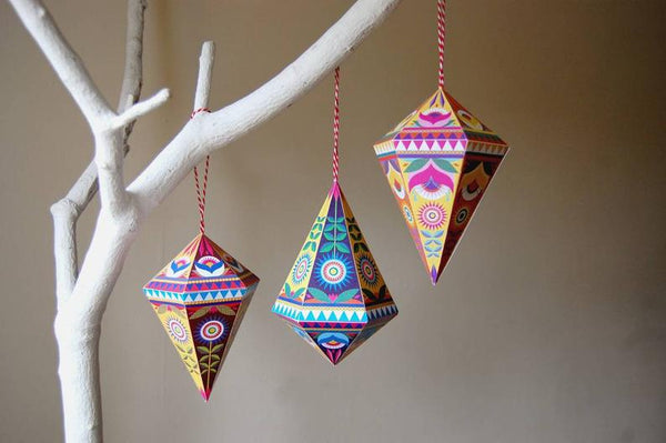 Folk Gems Paper Decoration Pack