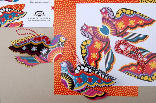 Little Birds Paper Decoration Pack