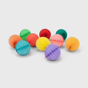 Honeycomb Ball 10 Pack, Rainbow Pastel