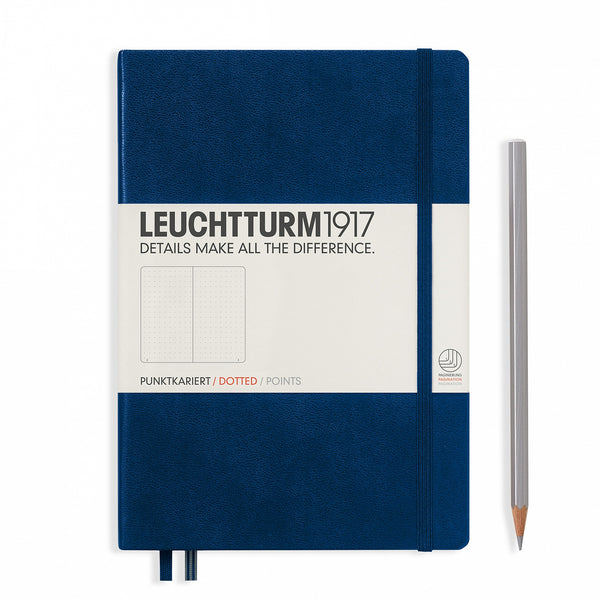 Leuchtturm1917 Medium (A5) Hardcover Notebook - Navy