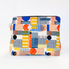 Flat Base Pouch in Multicolour Play Print