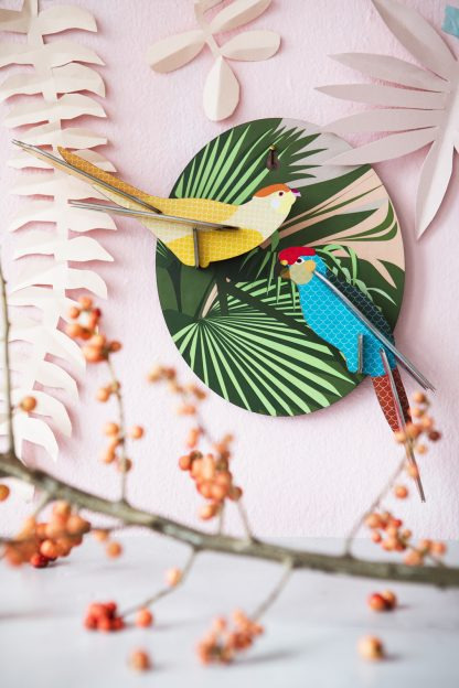 Exotic Bird Parakeets Wall Decoration
