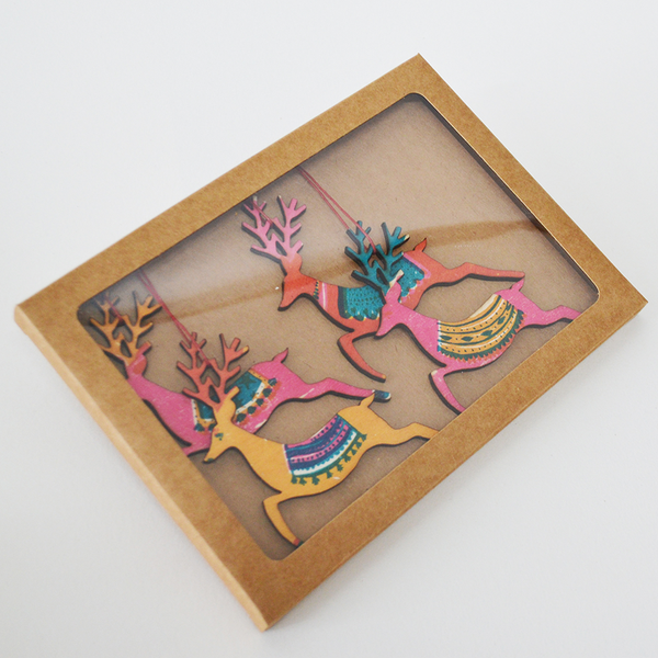 Reindeer Wooden Decoration Pack