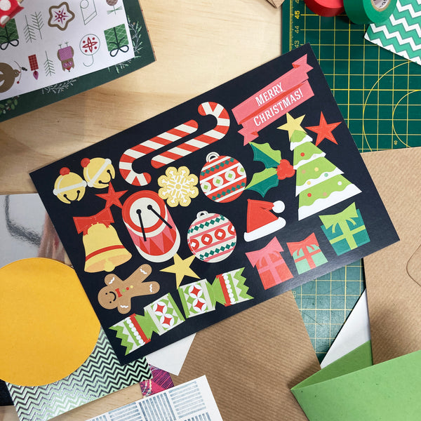 Christmas Paper Post - Limited Edition Kit for Collage
