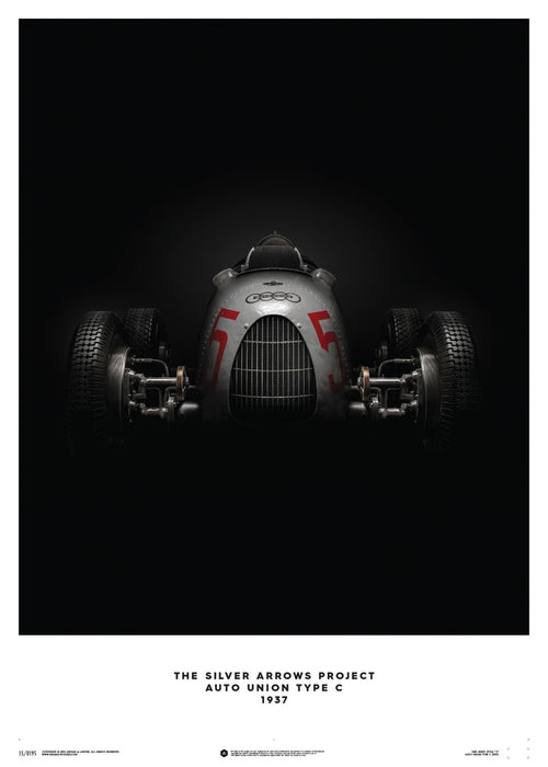 Auto Union Type C - Silver - 1937 - Poster