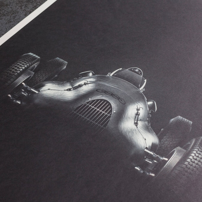 Auto Union Type D - Silver - 1939 - Poster