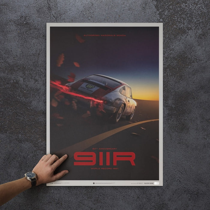 Porsche 911R - BP Racing - Monza - 1967 - U&L Edition Poster