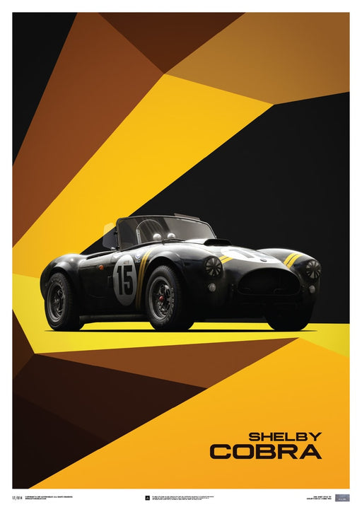 Shelby-Ford AC Cobra Mk II - Black - 1962 - Limited Poster