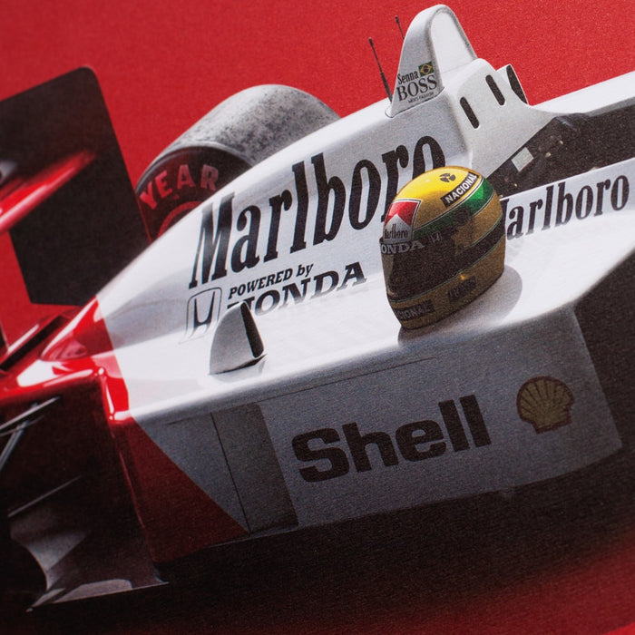 McLaren MP4/4 - Ayrton Senna - San Marino GP - Colors of Speed Poster