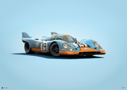 Porsche 917 - Gulf - 24h Le Mans - 1971 - Colors of Speed Poster
