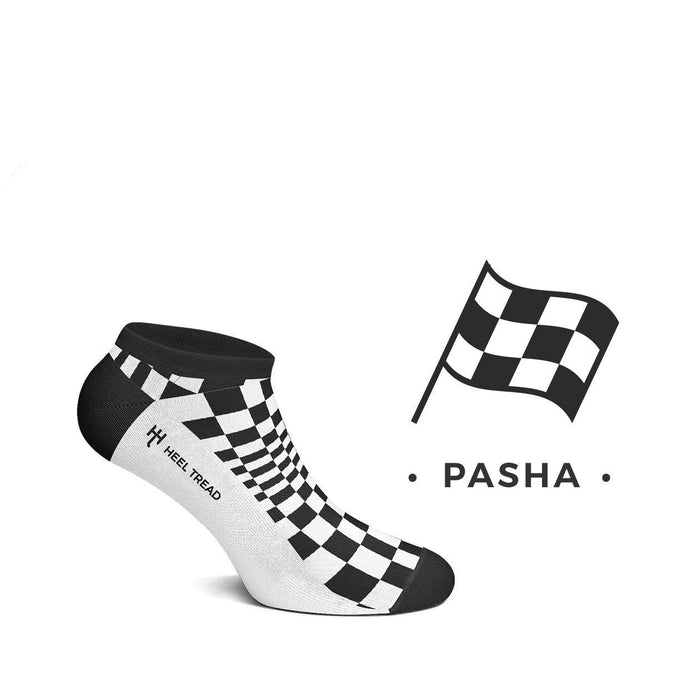 Porsche Pasha Black/White Low Socks