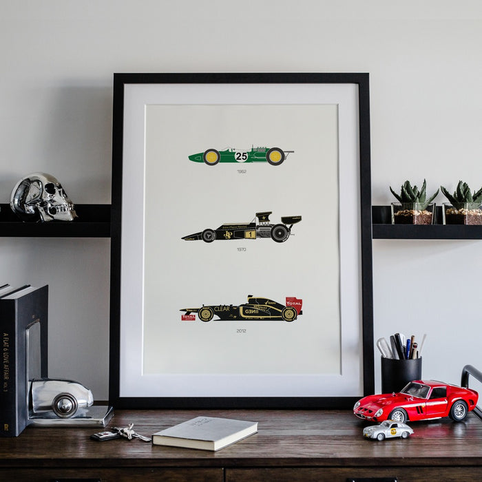 Define the Raceway - Lotus F1 Poster