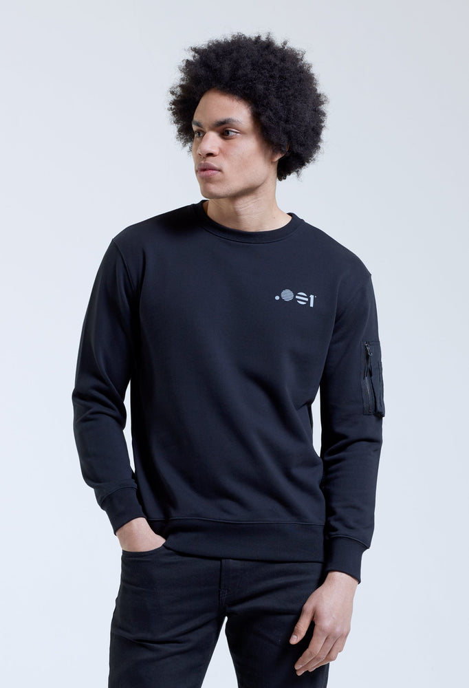 .001 Mens Zip Crew Sweat
