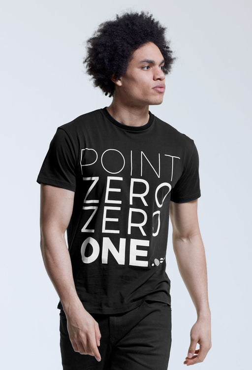 .001 Mens Logo T-Shirt - English Black