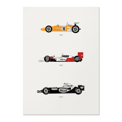 Yield the Track – McLaren Unframed Poster