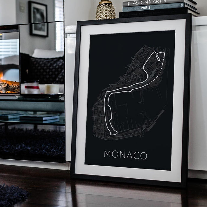 The Stage of Real Sport – Circuit De Monaco Framed Poster