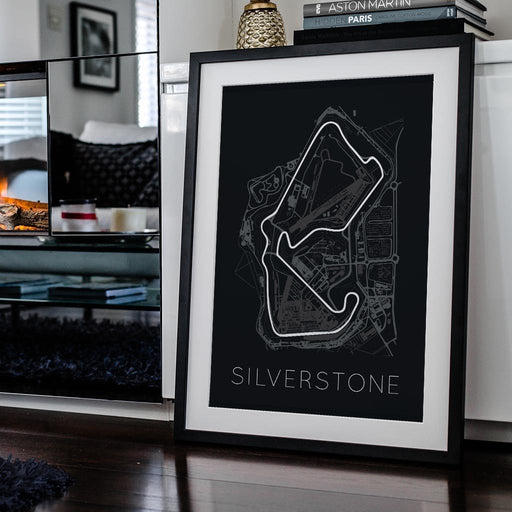 The Blueprint of Velocity – Silverstone Circuit Framed Poster