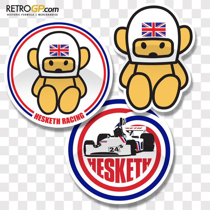 Official Hesketh Racing 3 Pack Sticker