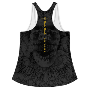 Hustle Harder Onyx Floral Racerback Tank