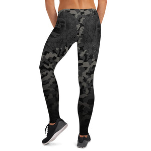 Hustle Harder Floral Camo Onyx Leggings