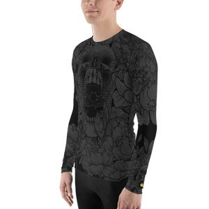 Hustle Harder Floral Onyx Men's Rash Guard