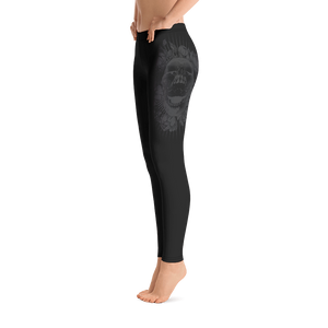 Hustle Harder Onyx Floral Leggings