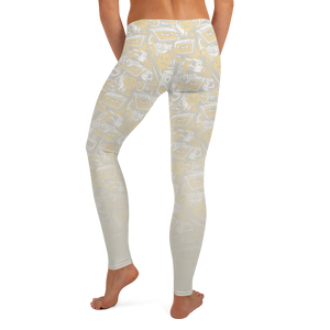 Hustle Harder Graffiti Ochre/Tan Leggings