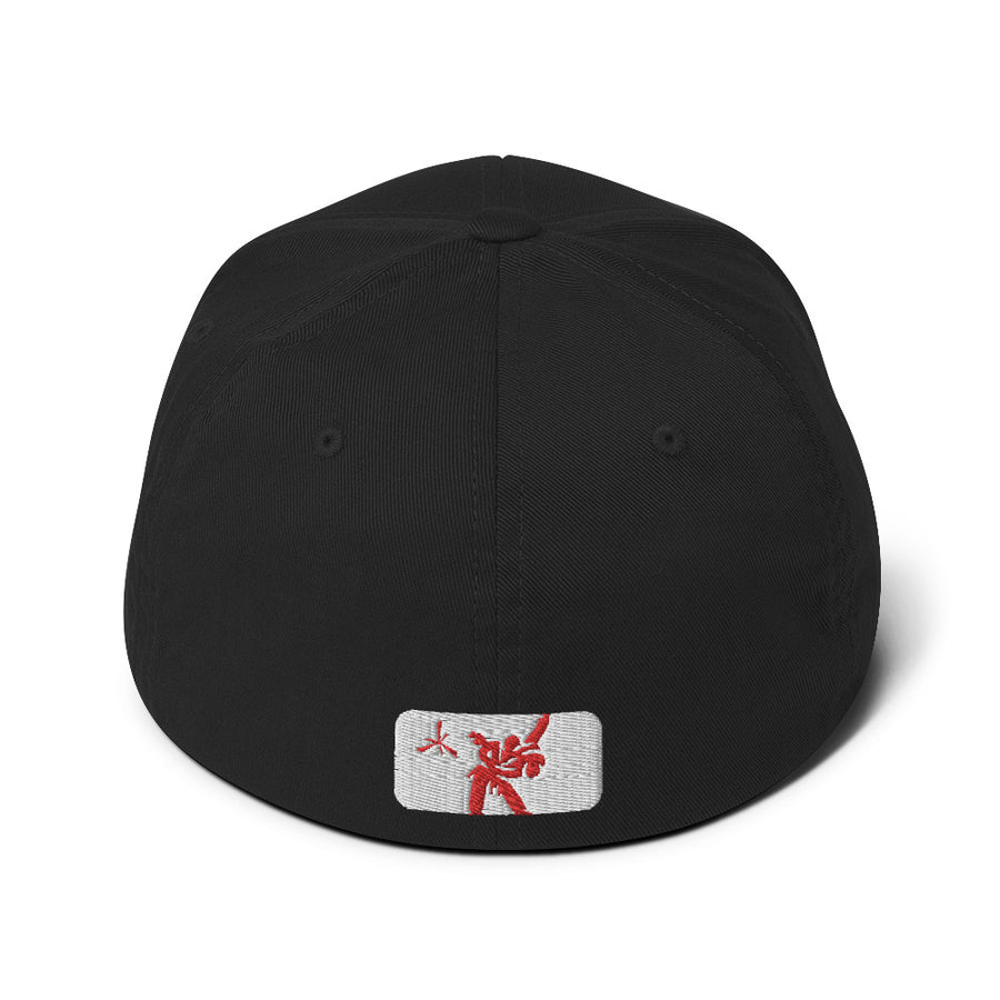 SCMMA Red/White Logo Combo FlexFit Cap