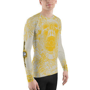 Hustle Harder Ochre Floral Men's Rash Guard