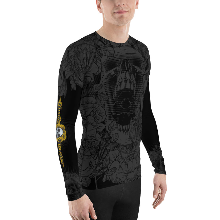 Hustle Harder Onyx Men's V2 Rash Guard