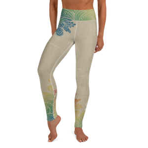 W4H Chakra/Tan Yoga Leggings w/ Inside Pocket