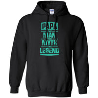 PAPA THE MAN Hoodie Sweatshirts CustomCat Black Small