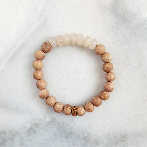 Neutral Wood Bracelet