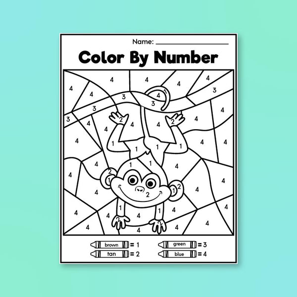 Pre K Color By Number Printables