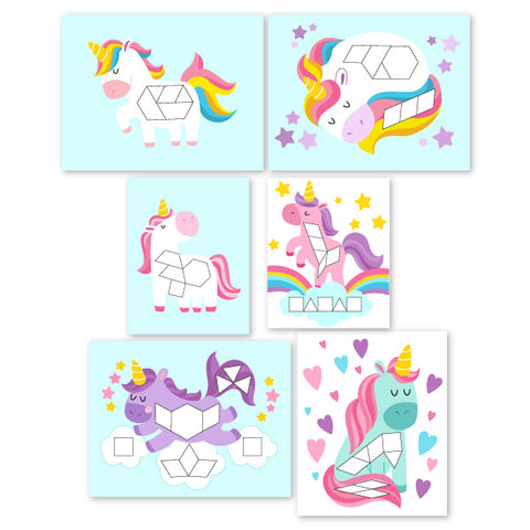 Unicorn Pattern Block Mats