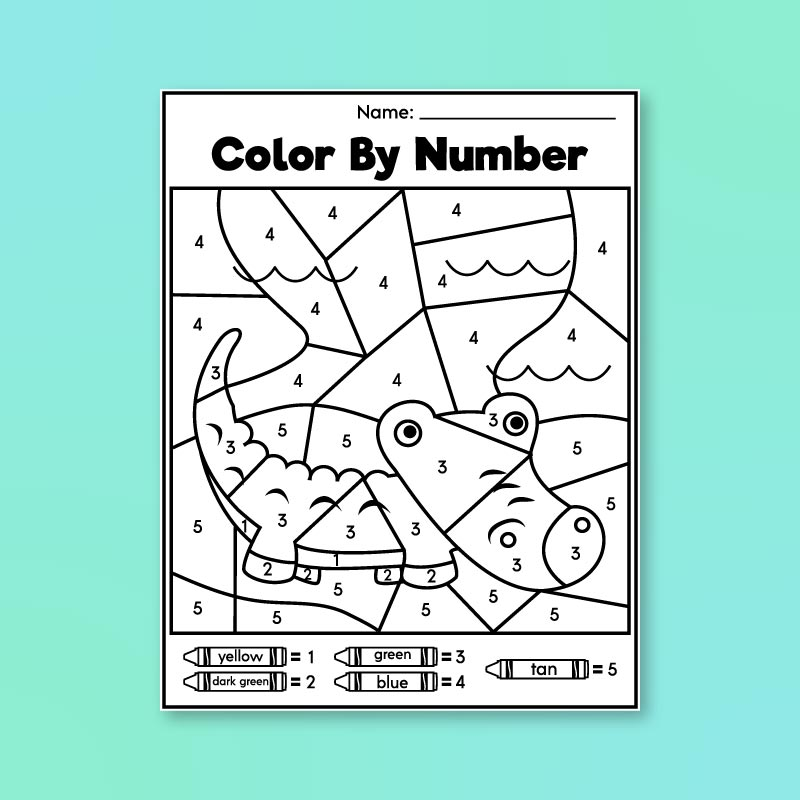 Pre K Color By Number Printables - Simple Everyday Mom