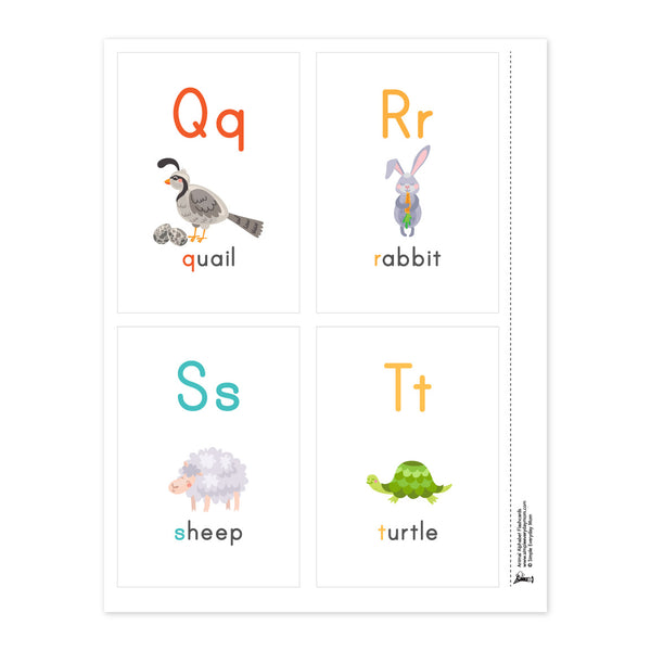 abc flashcards printable