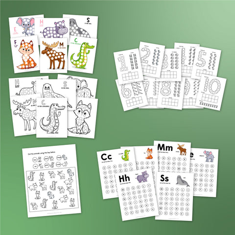 Animal Do A Dot Worksheets